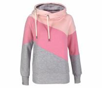 Kapuzensweatshirt grau / pink