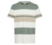 Shirt beige / creme / grün