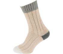 Socken grau / naturweiß