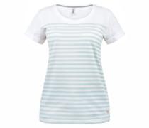 T-Shirt 'Mimi' hellblau / weiß