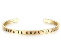 Armband mit Life IS BEAUTIFUL-Schriftzug