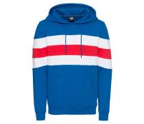 Hoody blau / rot / weiß