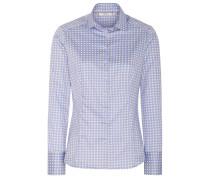 Langarm Bluse Slim FIT hellblau / weiß