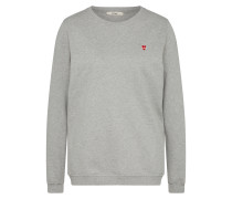 Sweater 'Heart Stitched' grau