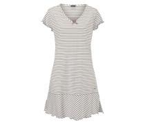 Nachthemd hellbeige / weiß