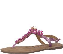 Zehentrenner Sandale 'Glitter Flower' pink