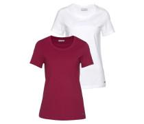 T-Shirt fuchsia / weiß
