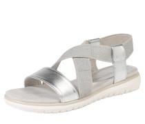 Sandale im Metallic-Look silber
