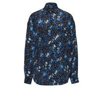 Bluse navy / hellblau / perlweiß