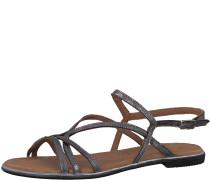 Sandale schwarz / silber