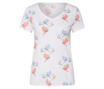 Shirt 'AW Print Tee' mischfarben / weiß