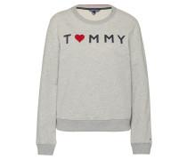 Sweatshirt mit Print hellgrau