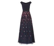 Abendkleid nachtblau / rosa / rotviolett