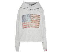 Hoody 'American Flag' hellgrau