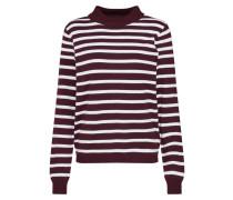 Pullover 'thess' burgunder / weiß