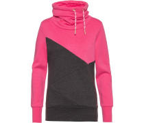 Sweatshirt 'Musiclove' dunkelgrau / pink
