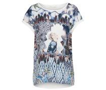 T-Shirt blau / mischfarben / weiß