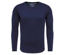 Langarmshirt 'mls Wood' blau