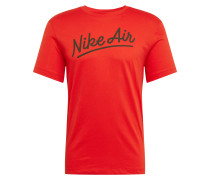 T-Shirt 'Air 1' rot / schwarz