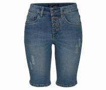 Jeansbermudas 'mit sichtbarer Knopfleiste'