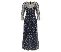 Kleid dunkelblau / flieder