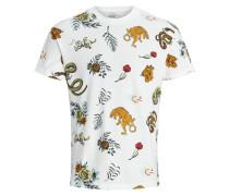 Tigerprint T-Shirt weiß