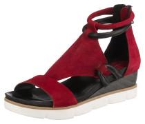 Sandalen blutrot / schwarz