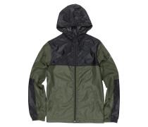 'Alder TW' Jacke dunkelgrün / schwarz