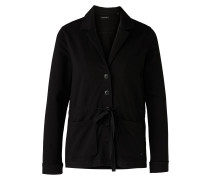 Jersey-Blazer schwarz