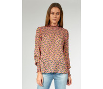 Bluse mit Allover-Muster