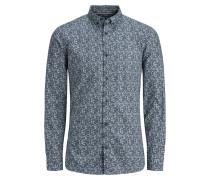 Hemd taubenblau / naturweiß