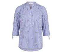 Bluse royalblau / grasgrün / weiß