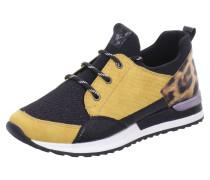 Sneakers gelb / schwarz / braun