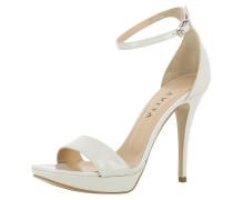 Sandalette 'valeria' perlweiß