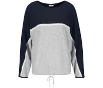 Pullover navy / graumeliert / weiß