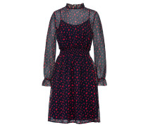 Kleid hellrot / schwarz