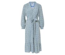 Kleid mischfarben / rauchblau / zitrone