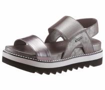 Sandalette stone / schwarz / weiß