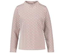 Shirt merlot / naturweiß