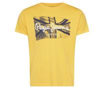 Shirt 'dacey' gelb / schwarz / weiß