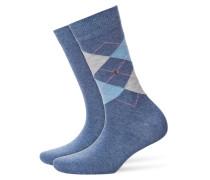 Socken im Multipack beige / blau