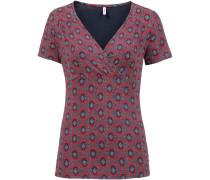 T-Shirt marine / rot