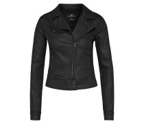 Bikerjacke aus Denim 'Ellen' black denim