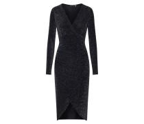 Kleid 'Shimmer Plunge' schwarz