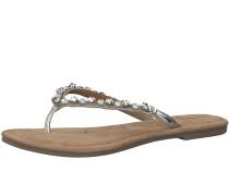 Sandale braun / silber / weiß
