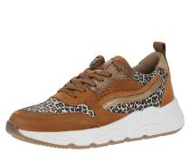 Sneaker gold / cappuccino / braun