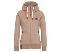 Sweatjacke 'Blonder Engel' braun