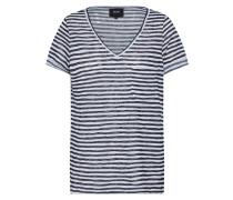 T-Shirt 'Tessi' dunkelblau / weiß