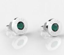 Ohrringe dunkelgrün / silber