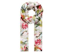Schal mit Tropical-Print mischfarben